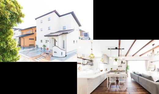 株式会社かみくぼ住宅で施行した家 外観写真と打ち合わせ写真