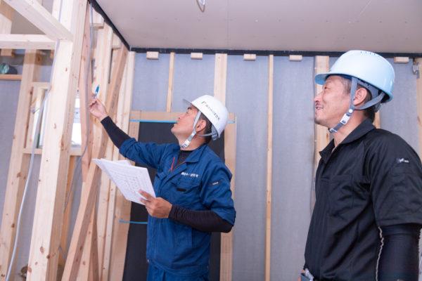 建築中のお家も、かみくぼ住宅なら補償があるから安心です!