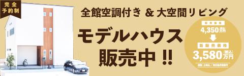 【石井町】全館空調付き&大空間リビングのモデルハウス「Calm-カーム-」販売会